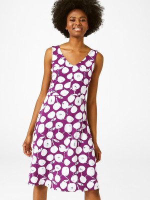 4276cfbe004 Trudy Dress PLUM PURPLE PRINT