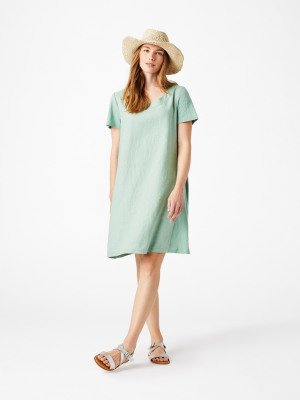 1cafaf37eed Koi Linen Dress SAGE GREEN PLAIN