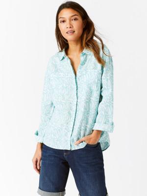 d6adccd834127b Sprig Linen Shirt AGAVE TEAL PRINT