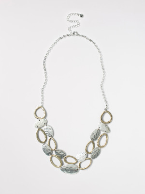Short Mixed Oval Necklace