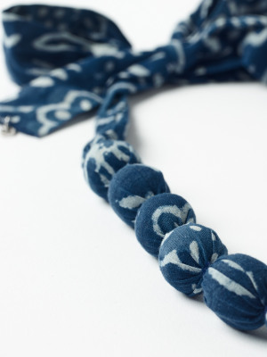 Short Fabric Bead Necklace