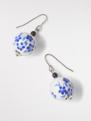 Flower Ceramic Bead Earring