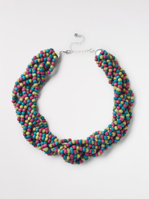 Multi Twisted Wood Necklace