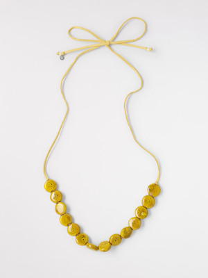 Cord & Ceramic Necklace