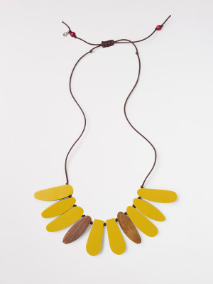 Reversible Wood Resin Necklace