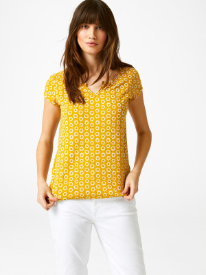 035abc3bebcee Bloom Fairtrade Jersey Tee AFRICAN YELLOW PRINT