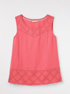 Locket Embroidered Jersey Vest