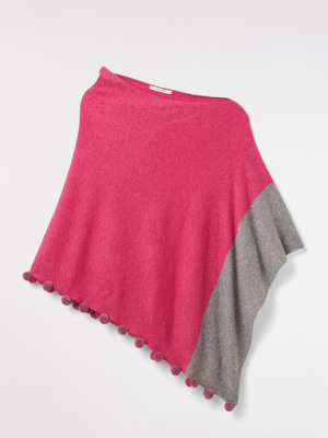 Lightweight Colourblock Poncho