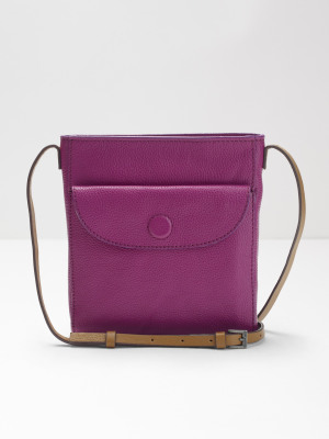 4b7768f4c768 Mimi Leather Crossbody bag PLUM PURPLE PLAIN