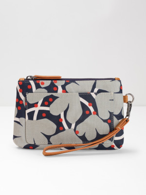 103cb14a5744 Floral Coated Canvas Pouch MULTI
