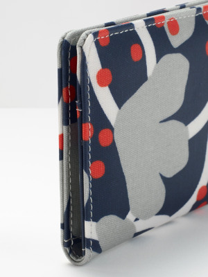 Floral Coated Canvas Cardholder