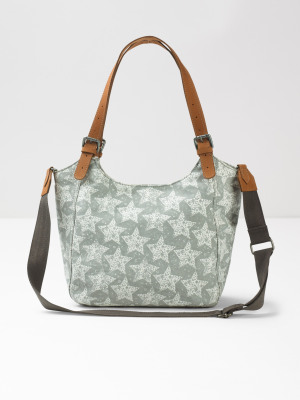 Bailey Zip Canvas Star Bag