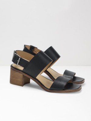 1b0ded37b9d0 Sally Mid Block Heel BLACK