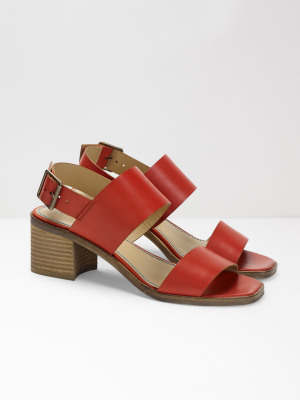 60caf57e4060 Sally Mid Block Heel RED