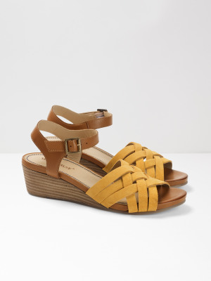 92c28fff559 Carrie Mid Heel Comfort Wedge YELLOW