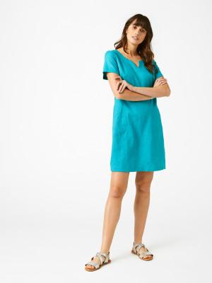 d9ab005dc4 Sprig Linen Dress JADE GREEN PLAIN