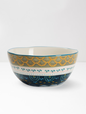 Grey Scallop Decorative Bowl