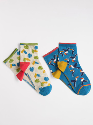 Tropical Toucan 2 Pack Socks