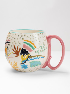 Multi Flower Decorative Mug