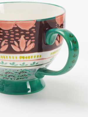 Plum Scallop Decorative Mug