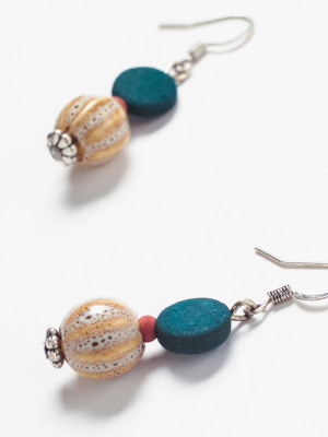 Ceramic Mono Bead Earring