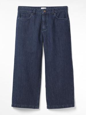 Belle Denim Crop Wide Leg Jean