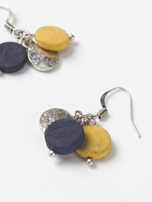 Mono Bead & Disc Drop Earring
