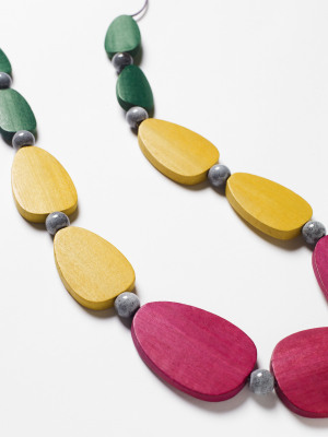 Karas Wood & Ceramic Necklace