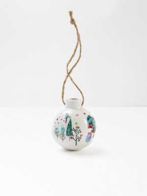 Merry Xmouse Ceramic Bauble