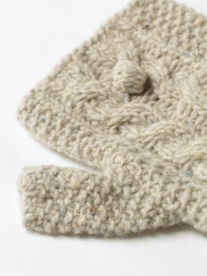 Chunky Cable Fingerless Gloves