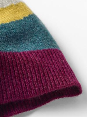 Cashmere Colourblock Hat
