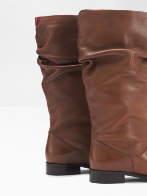 Rebecca Ruched Mid High Boots