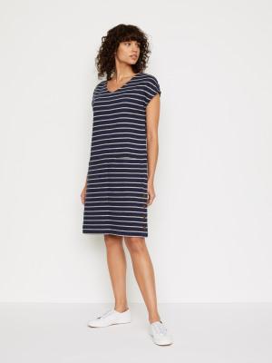 50 NEW  RRP £47 White Stuff Mixed Stripe Jersey Tunic Dress