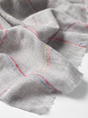 Lina Grid Midweight Scarf