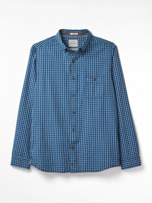 Bessom Indigo Check Shirt