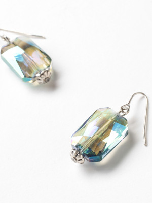 Oblong Glass Drop Earring