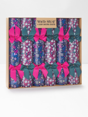 Winter Floral Crackers x6
