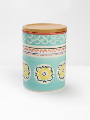 Mint Flourette Storage Jar
