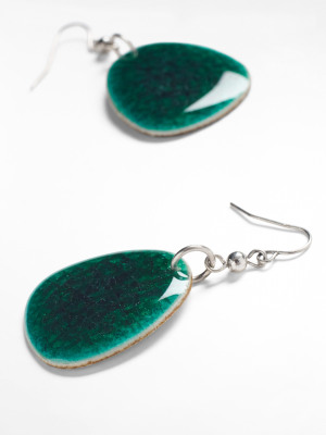 Crackle Ceramic Drop Earring