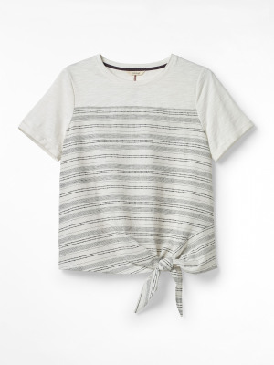 Stripe and Knot Tee
