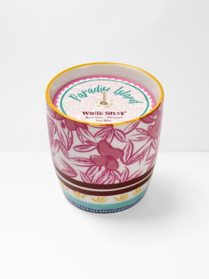 Poppy Pink Floral Candle