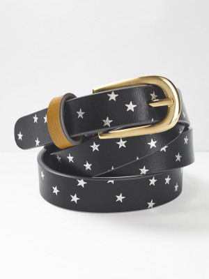 Metallic Star Pop Belt