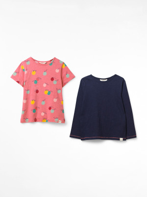 Lucy Print 2 Pack Organic Tees