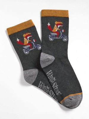 Mini Me Biker Fox Socks