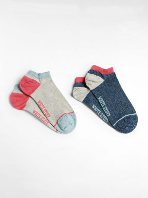 Sparkle Trainer Sock 2 Pack