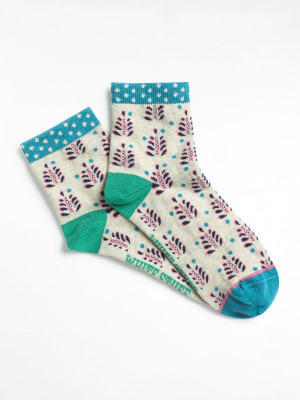 Dotty Floral Sock