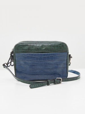 Lila Leather Mix Camera Bag