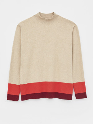 Tipped Funnel Neck Jumper