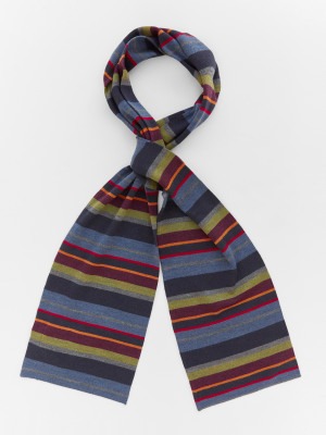 Windsor Stripe Merino Scarf
