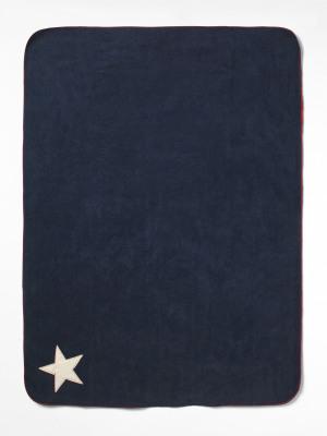 Navy Star Dog Blanket